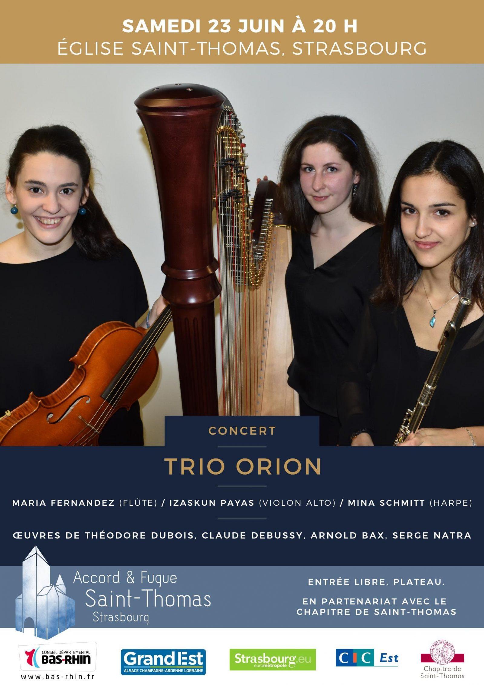 Concert Trio Orion Strasbourg