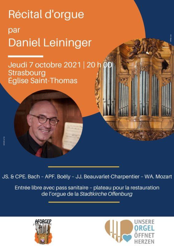 Récital d'orgue Strasbourg église Saint Thomas