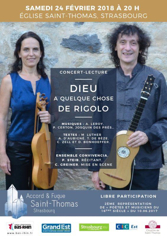 Dieu a quelque chose de rigolo - Concert Saint-Thomas Strasbourg