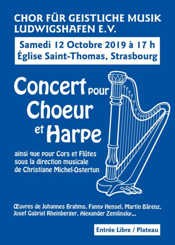 Concert pour Choeur et Harpe Saint Thomas Strasbourg.