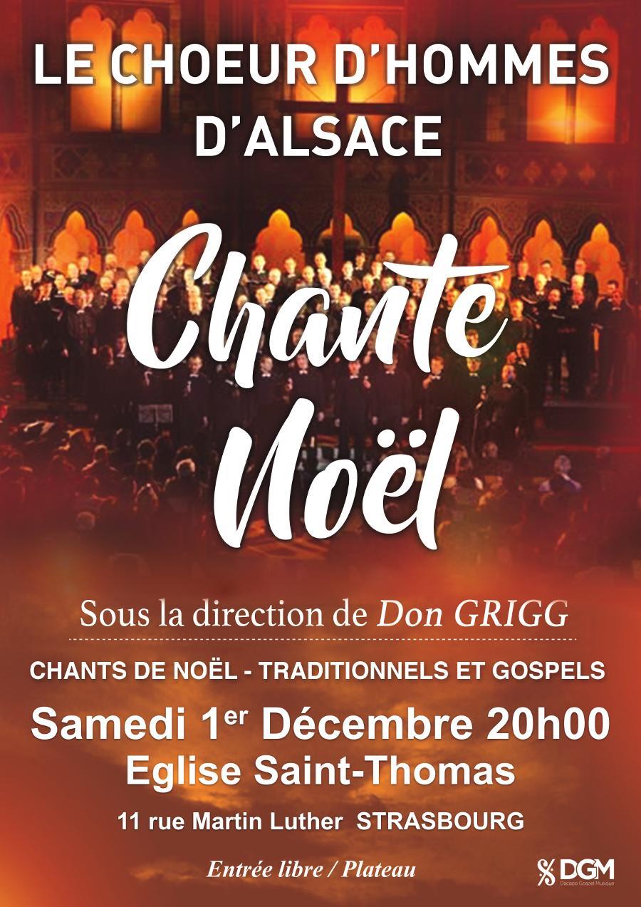 Le Choeur d'Hommes d'Alsace chante Noël