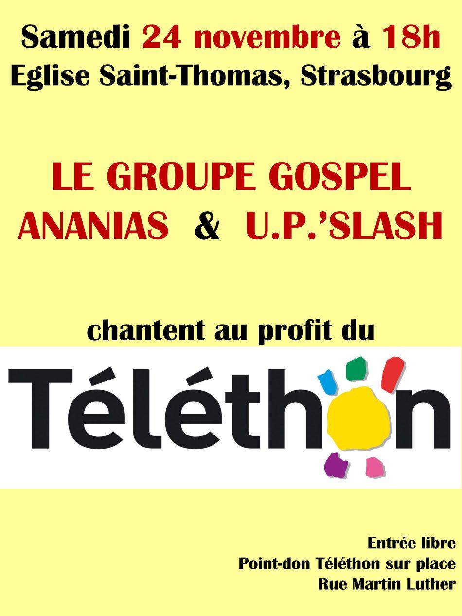 Concert gospel Strasbourg telethon