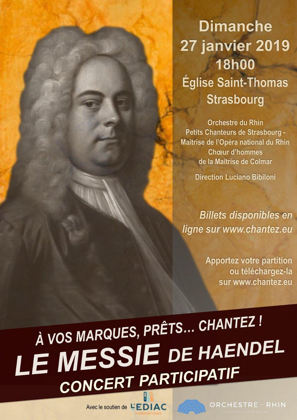 Concert Le Messie de Haendel Strasbourg