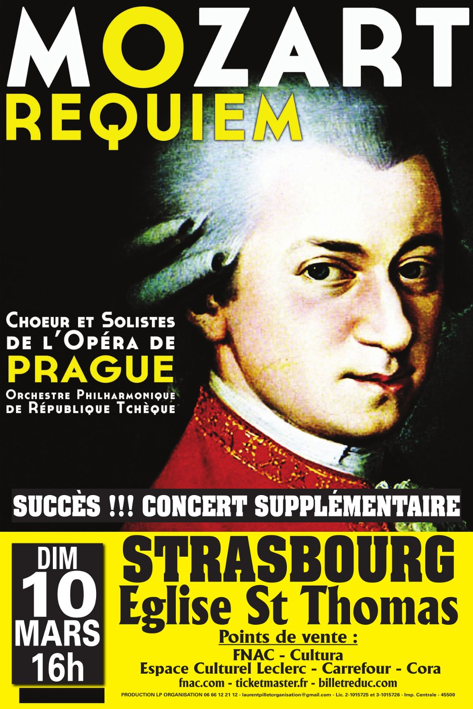 Concert Requiem de Mozart Strasbourg 10 mars 2019