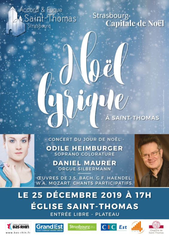 Concert Noël lyrique Eglise Saint-Thomas Strasbourg