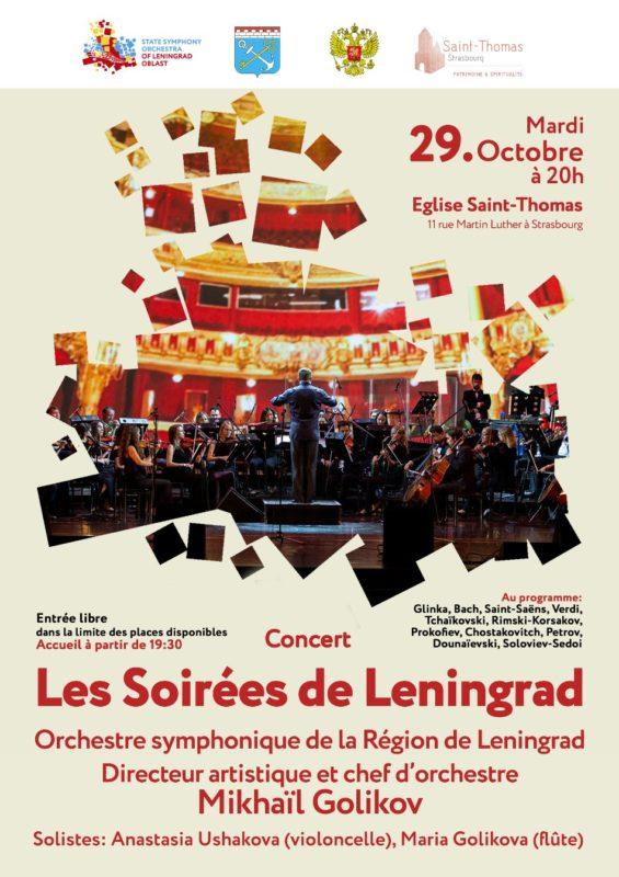 Concert les soirées de Leningrad Saint Thomas Strasbourg