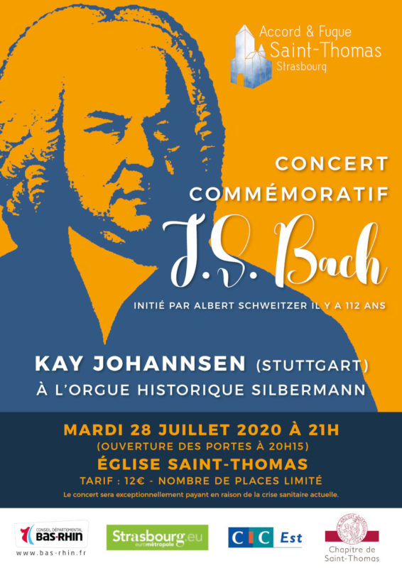 Concert Strasbourg été 2020 J S Bach