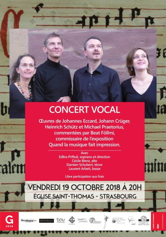 Concert vocal 19 octobre Strasbourg