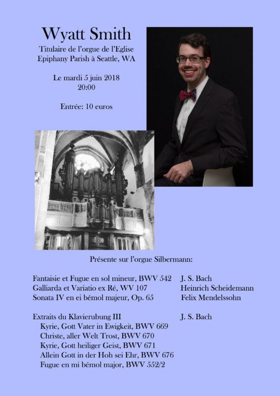 Concert Wyatt Smith Strasbourg